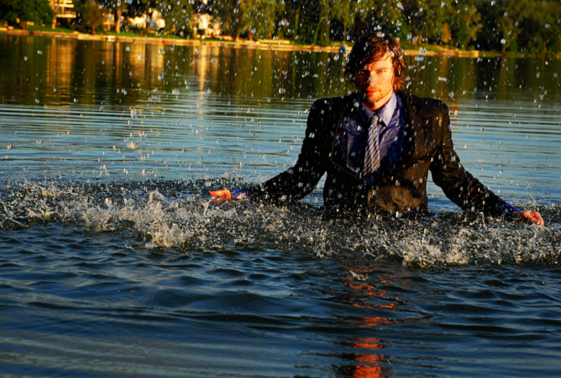 Toby in Cedar Lake (photo by Leslie Plesser)
